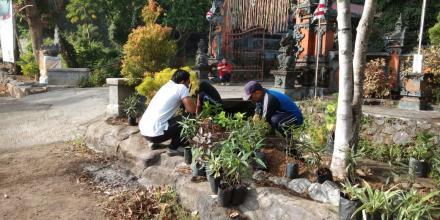 Pegawai Kecamatan Ikut Serta Jumat Bersih di Kantor Perbekel Jagaraga