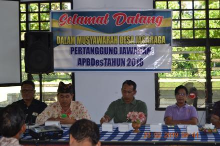 Musyawarah Desa Laporan Pertanggung Jawaban (LPJ) Tahun 2018, Diterima Oleh Masyarakat